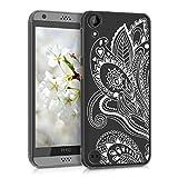 kwmobile HTC Desire 530 Hülle - Handyhülle für HTC Desire 530 - Handy Case in Paisley Blume Design Weiß Transparent