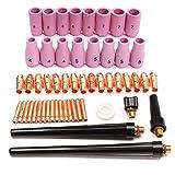 Alffun 53pcs TIG Collets Bodies Alumina Cup Assorted Size Fit SR WP 9 20 25 TIG Welding Torch