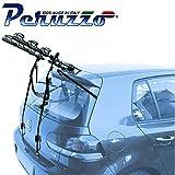 PORTABICI POSTERIORE AUTO 3 BICI COMPATIBILE CON LAND ROVER DISCOVERY SPORT 5P 2015 > PORTA BICI TRASPORTO BICICLETTE BICICLETTA TRE BIKE COFANO CARICO MAX 45KG PROTEZIONE TELAI CRUISER DELUX