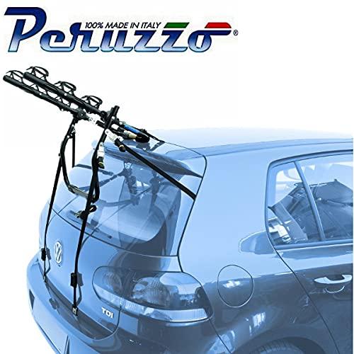 PORTABICI POSTERIORE AUTO 3 BICI COMPATIBILE CON PEUGEOT 108 5P 2014  PORTA BICI TRASPORTO BICICLETTE BICICLETTA TRE BIKE COFANO CARICO MAX 45KG PROTEZIONE TELAI CRUISER DELUX