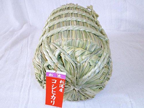 令和1年産新米 新潟白根のコシヒカリ1kg入り米俵 のし紙対応