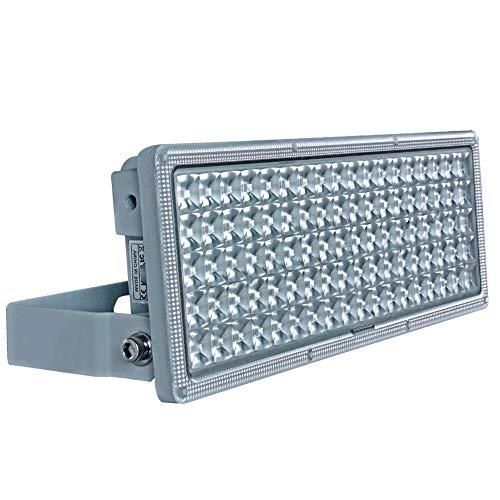 Rugging Flutlichter LED Flutlicht Außen 100W LED Strahler 10000lm Superhelle Fluter 3000K IP67 Wasserfest Außenstrahler für Rasenflächen Hinterhof