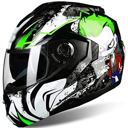 Casco Moto Modular ECE Homologado Casco De Moto Scooter Para Mujer Hombre Adultos Con Doble Visera Ara Protección De Seguridad De Ciclismo De Carreras De Motos A,XXL