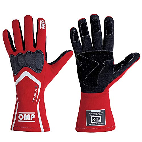 OMP IB/764 Tecnica-S Rennfahrer-Handschuhe, feuerfest, FIA-genehmigt, Motorsport