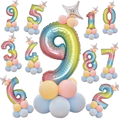 誕生日 風船 数字 バルーン SAPAS バースデー 飾り バルーン パーティー 飾り風船 おしゃれ(6)