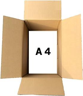 【国産】 ダンボール 80サイズ 10枚 ダンボール箱 A4サイズ 対応 10枚【 内寸305×220×215】 梱包 収納 箱