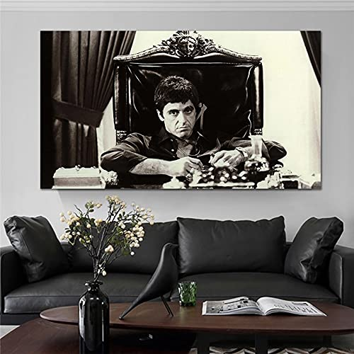 Photography Europen Style Black and White Portrait Retro Pictures Art Home Decor Canvas Painting Wall Art Poster for Living Room 50x90 CM (sin marco)
