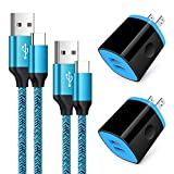C Type Charger Fast Charge Wall Charger Block Plug Fast Charger Type C Android USB C Phone Charger Cord Cable 6ft for Samsung Galaxy S21/S21+/S21 Ultra/S20/S20+/Note 20 10 9/S10/S9/A10e/A20/A50/A51