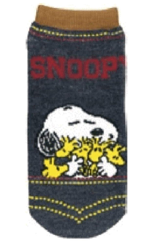 スヌーピー SNOOPY デニム風ソックス ウッドストック 1 ソックス ピーナッツ ファッション グッズ 靴下 くつした かわいい 0405-180