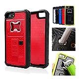 ZVE Coque multifonction pour iPhone 5/5S avec briquet et décapsuleur, Silicone, red,...