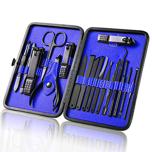 JUSTDOLIFE Kit d'outils de manucure Kit de soins des ongles portable en acier inoxydable créatif Kit d'outils à ongles