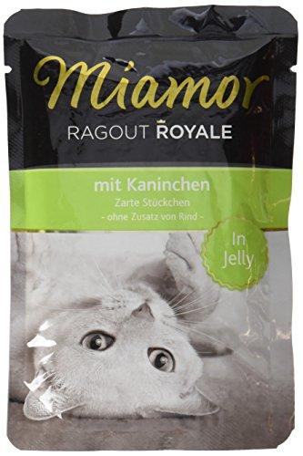 Miamor Katzenfutter Ragout Royal Kaninchen 100 g, 22er Pack (22 x 100 g)
