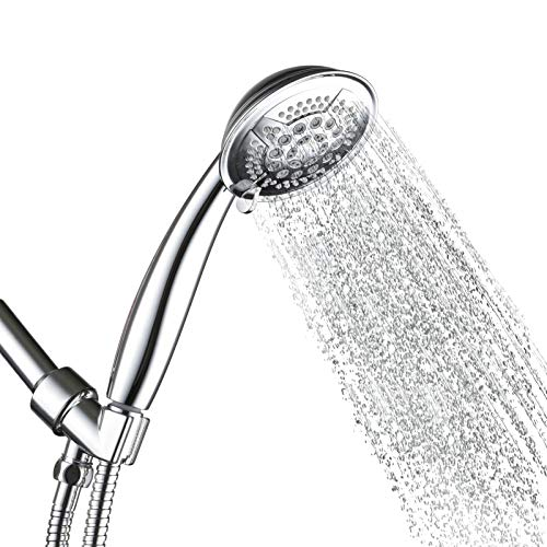 Srmsvyd Hand Held Shower Head High Pressure 5 Spray Setting Multi-functions Massage with 78 Inches Long Shower Hose (chrome1)