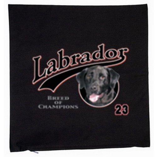 Chien labrador housse de coussin 40 x 40 cm (noir)