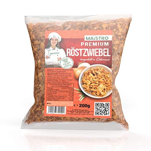 Cebolla asada premium baja en grasa - para condimentar / cocinar / decorar - lista para usar. Cebolla asada premium MAISTRO 200g