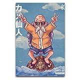 WPQL Dragon Ball Kame Sennin - Lienzo decorativo para decoración del hogar y sala de estar, 30 x 45 cm