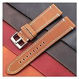 Correa de reloj Correas de reloj de cuero genuino vintage Cinturón de 7 colores 18 mm 20 mm 22 mm 24 mm Mujeres Hombres Correa de reloj Correa Accesorios de reloj Correa de reloj de 22 mm (cierre