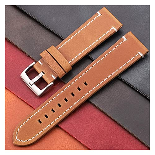 WYZQ Cinturino per Orologio Cinturino Vintage in Vera Pelle 7 Colori Cinturino 18mm 20mm 22mm 24mm Cinturino per Orologio da Donna Cinturino per Orologio Accessori per Orologio Cinturino per Orologio