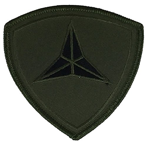 USMC 3RD MARINE DIVISION UNIT Patch - OD Green/Black - Veteran Owned Business. (Marine Corps Unit Patches)