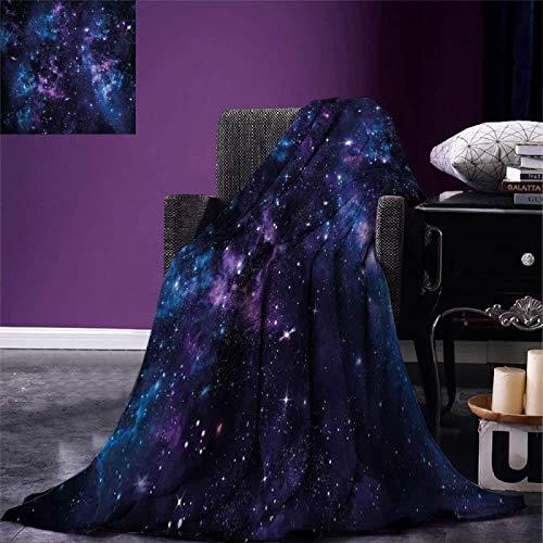 Manta de Franela Espacial, Cielo místico con cúmulos de Estrellas, Nebulosa del Cosmos, Paisaje Celestial, Ilustraciones, Manta de Franela cálida