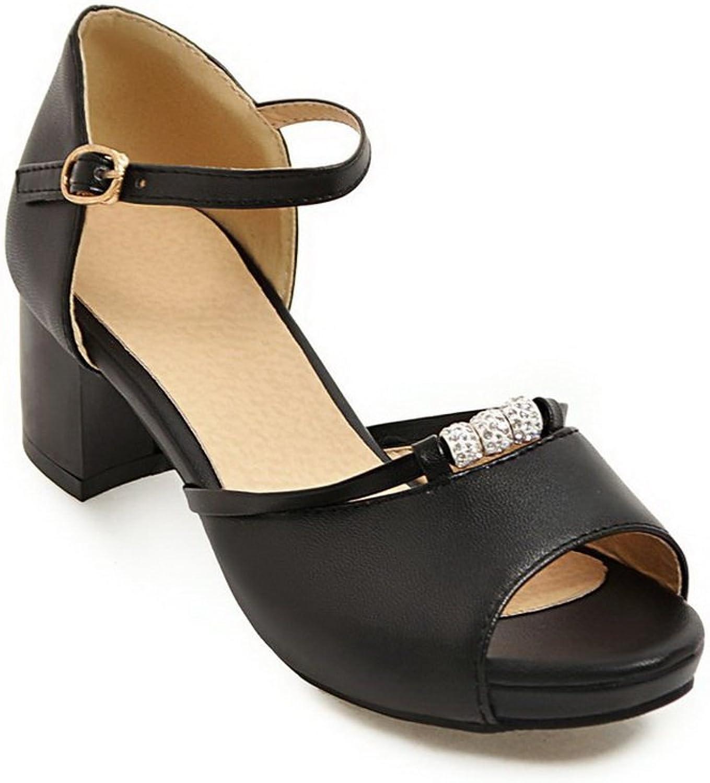 AN Womens Sandals Studded Peep-Toe Urethane Sandals DIU00685