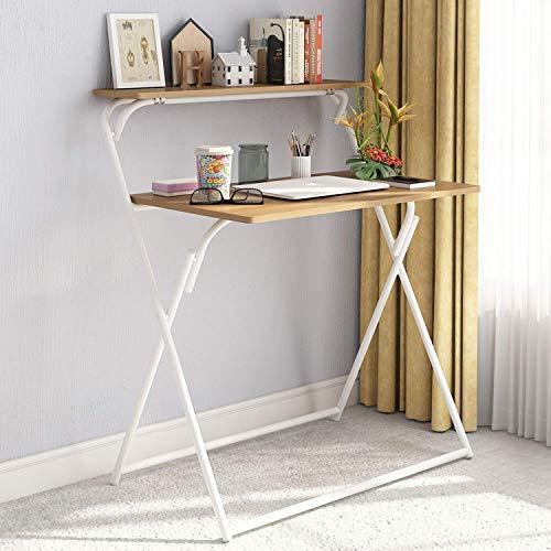 Equipment Wghz - Escritorio Plegable para computadora, Mesa de pc de 2 Niveles para estación de Trabajo de Oficina en casa, Color Blanco