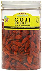 Rich in beta-carotene Goji berries are tested to be less than 10 ppm preservative Contains 8 essential amino acids and beta-carotene Low in calories, fat-free and packed with fibre
