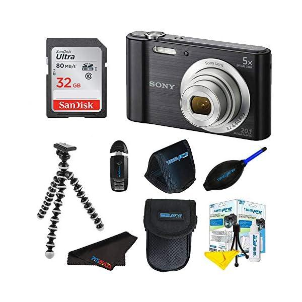 Sony Cyber-Shot DSC-W800 Digital Camera (Black) + 32GB Pixi-Basic I3ePro Accessory...