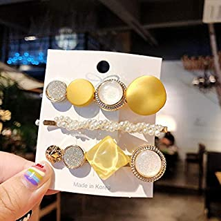 YJXUSHYQ Hair Clips for Women Headband Hairpins Barrettes Pearl Geometric Girls Hairgrips Fashion Hair Jewelry Accessories...