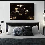 Danjiao Pate Al Pacino Weinlese Moive Wand-Plakate Und Drucke Schwarze Schwarzweiss-Pate-Leinwand-Kunst-Malereien Für Wohnzimmer Wohnzimmer 40x60cm