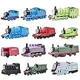 12 Piezas Mini Coches Cars, Thomas & Friends Mini Die Cast Set, Coches de Pequeños Regalos Fricción Powered Truck Cars Set, Mini Coches de Juguete de Multicolor