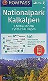 KOMPASS Wanderkarte Nationalpark Kalkalpen, Ennstal, Steyrtal, Pyhrn-Priel-Region: 4in1 Wanderkarte 1:50000 mit Aktiv Guide und Detailkarten inklusive ... in der KOMPASS-App. Fahrradfahren. Skitouren. - KOMPASS-Karten GmbH