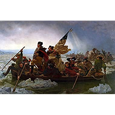 Young N Refined George Washington's Crossing of The Delaware River Oil Painting Reproduction (16x20)