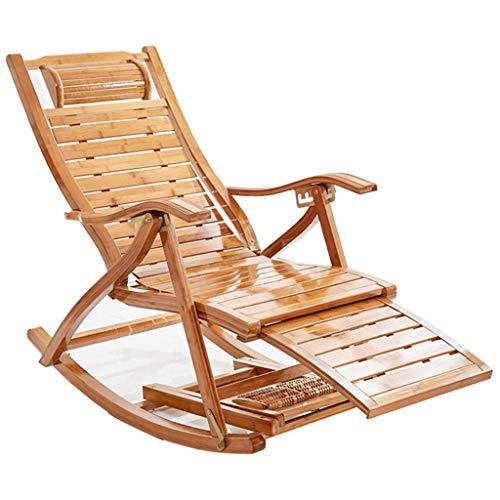 Sling stoel, het vouwen Stevige Houten rugleuning Dekstoel, Bamboo schommelstoelen, Tuin Patio Outdoor Recliner Zonnestoel,A