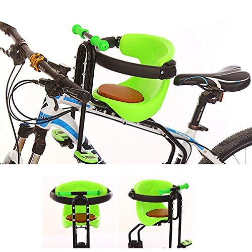 Kindersitz Fahrrad Vorne, Fahrradsitz Vorne Für Kinder Abnehmbar Fahrradkindersitz Vorne Mit Pedal Und Griff Mountainbike Kindersitz Fahrradsitz Kinder 50Kg,Grün