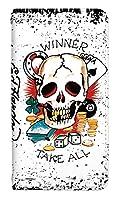 [XPERIA 1 SO-03L] ベルトなし スマホケース 手帳型 ケース 8191-C. Winner_Take_All かわいい 可愛い 人気 柄 ケータイケース エドハーディー Ed Hardy