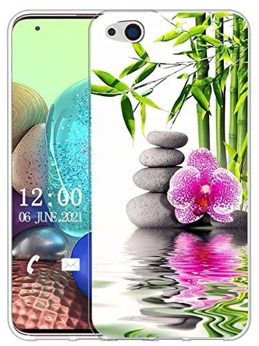 Sunrive Hülle Kompatibel mit ZTE Nubia Z9 Max Silikon, Transparent Handyhülle Schutzhülle Etui Hülle (X Blume)+Gratis Universal Eingabestift MEHRWEG