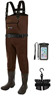 تید Wee Neoprene Waders ، Cleated Bootfoot Men Chest Waders ، ضد آب و ماهیگیری با دوام
