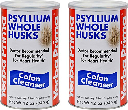 Yerba Prima Psyllium Whole Husks, Colon Cleanser 12 oz ( Pack of 2)