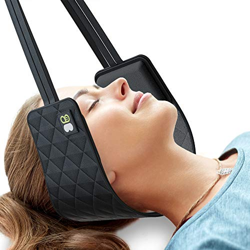 Bonsai Wellness Cervical Traction Hammock for Neck and Head-Chiropractic Alignment Stretching Device for Neck Shoulder and Back Pain Portable Physical Therapy Relief for Headaches Migraine and Stress