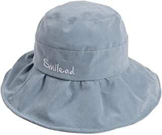 YOKST Foldable Wide Brim Basin Cap UPF 50+ UV Protection Sun Hats Adjustable Breathable Bucket Hat Polyester Comfortable Casual Wild Fishing Cap For Travel Holiday Beach Camping (Color : Light blue)