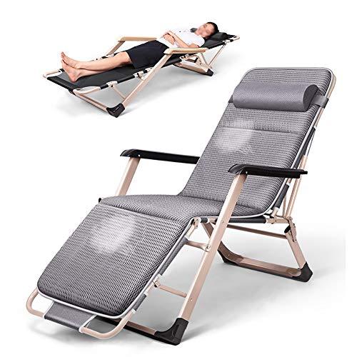 Fauteuils de salon inclinables Chaise extra-large à gravité zéro pour personnes très exigeantes, Chaise longue de patio, Chaise longue Lay Falt avec coussin, Support de 330 lb