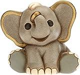 Dekomiro Thun - Soprammobile Elefante della Savana - Accessori e Decorazioni Casa - Linea Savana Story - Formato Piccolo Ceramica - 9,2 x 7,2 x 8 h cm