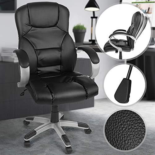 Miadomodo Sedia ufficio girevole poltrona scrivania ergonomica altezza regolabile 107-117 cm