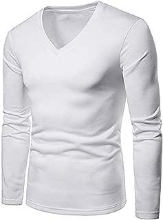 Solid Color V Neck Fleece T-Shirt