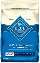 Blue Buffalo Life Protection Formula Adult Dog Food Natural Dry Dog Food for Adult Dogs Chicken and Brown Rice 30 lb. Bag