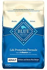 REAL MEAT FIRST: Blue Buffalo foods always feature real meat as the first ingredient. High-quality protein from real chicken helps your dog build and maintain healthy muscles. Plus they contain wholesome whole grains, garden veggies and fruit. FOR AD...