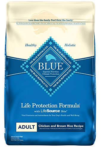 Blue Buffalo Life Protection Formula Adult Dog Food , Natural Dry Dog Food for Adult Dogs , Chicken and Brown Rice , 30 lb. Bag