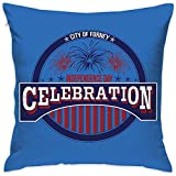 N/A Couvre-Oreiller Independence Day Bed Sofa Taie d'oreiller Coussin Sleeping Cushion Soft 18 'X 18'