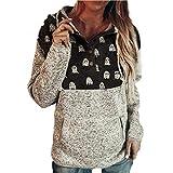 haoricu Womens Christmas Casual Pullover Drawstring Hoodies with Pocket Hooded Sweatshirt Tops …